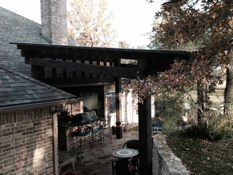 Outdoor Living And Entertaining Under A Custom Pergola