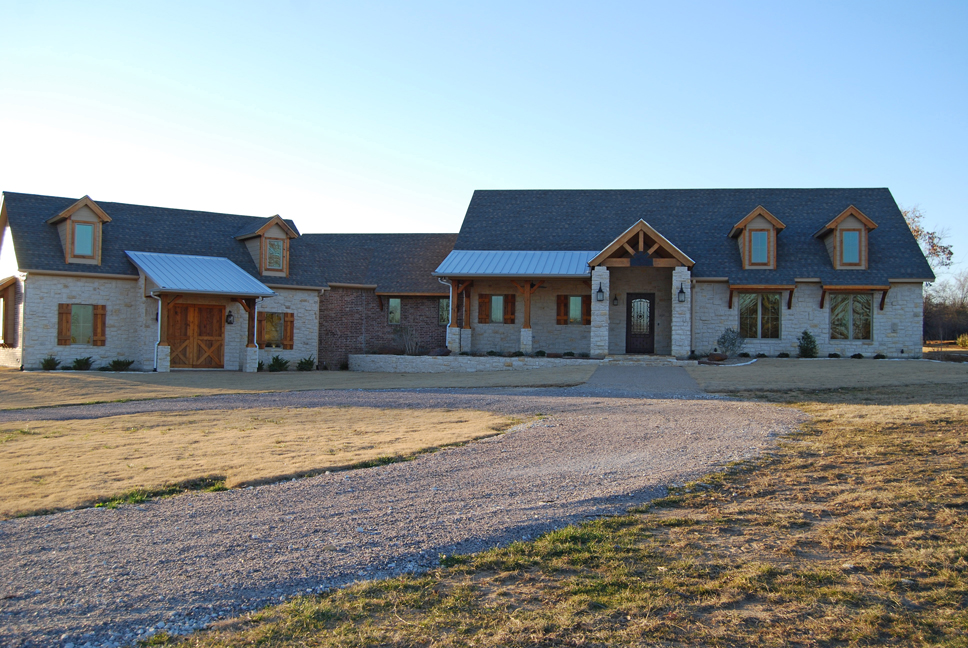 Texas ranch style custom home steed custom homes for Texas farm houses