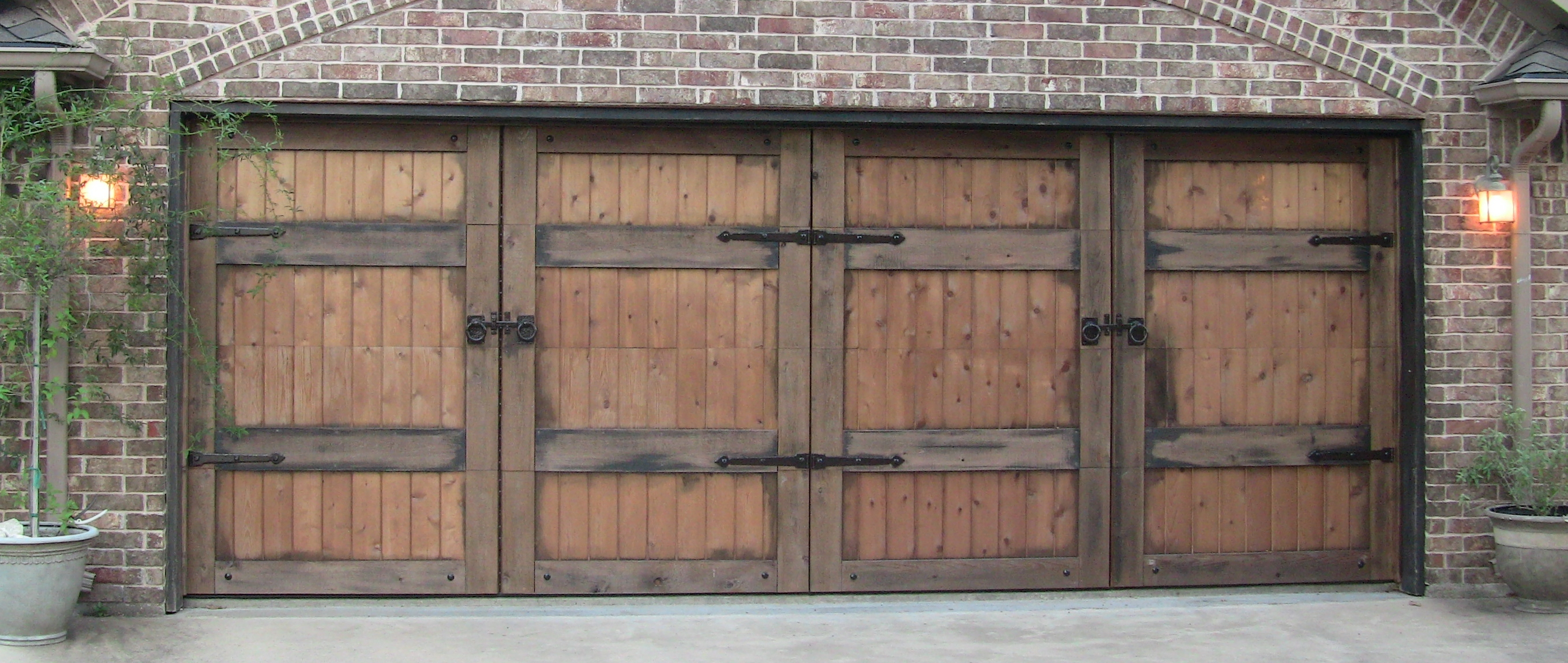 1150 #7F604C Cedar Clad Overhead Doors Will Steed Homes pic Clad Wood Doors 47212718