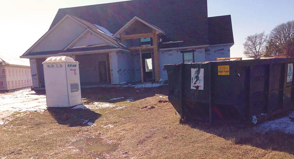Clean construction site in Granbury TX