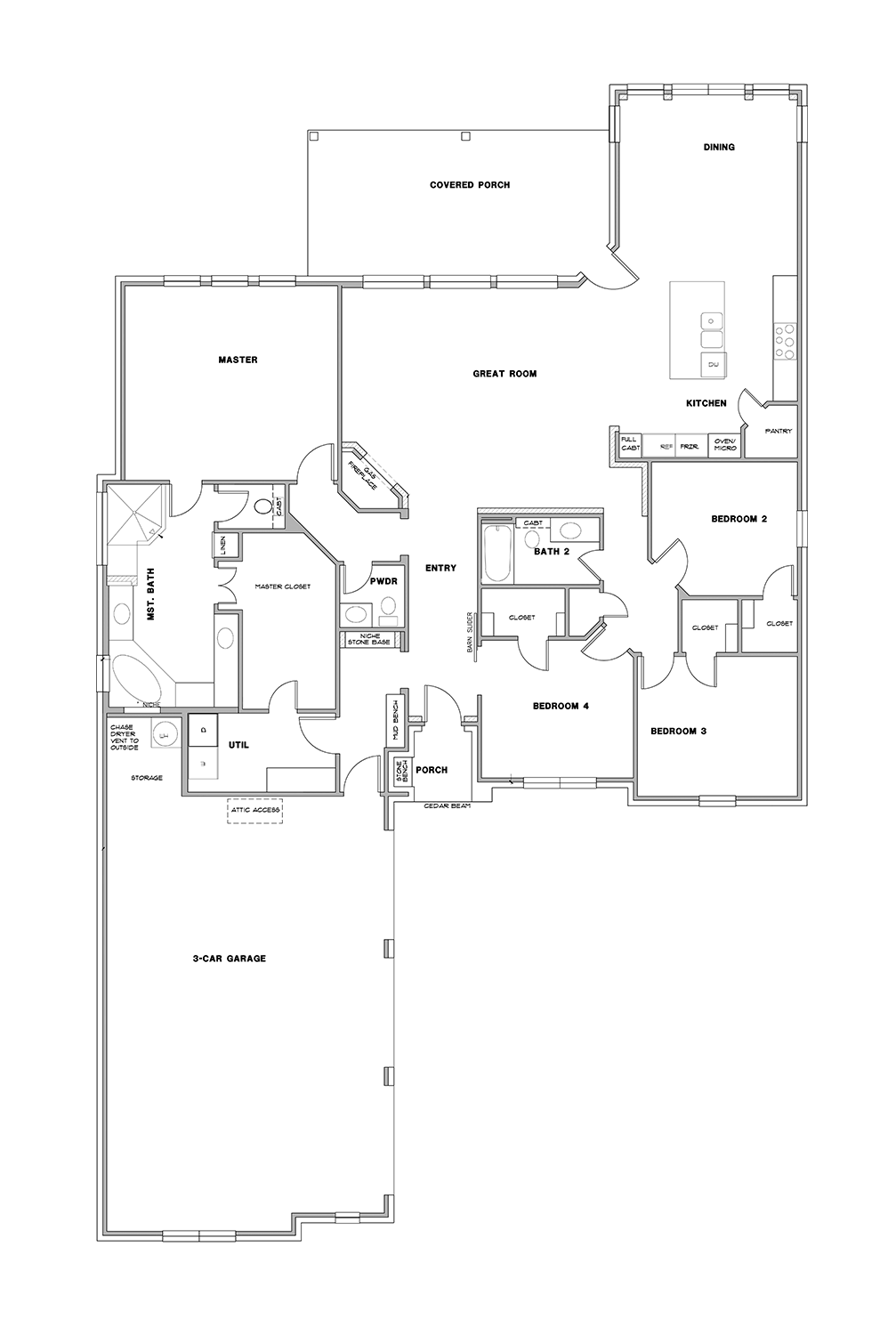 Floor Plan 1 Steed Custom Homes